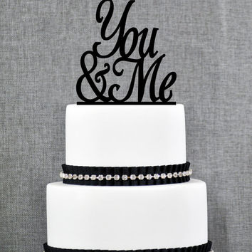 Wedding Cake Topper - Script You & Me Cake Topper by Chicago Factory