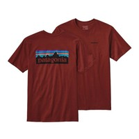 Patagonia Men's P-6 Logo Cotton T-Shirt | Cinder Red