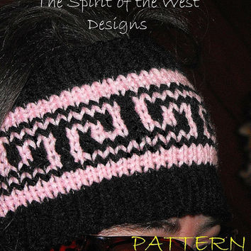 BONITA EarWarmer - Knitting Pattern, headband, headwrap, earwarmer, warmer, teen, adult, stranded, womans accessories, ear-muff, wrap turban