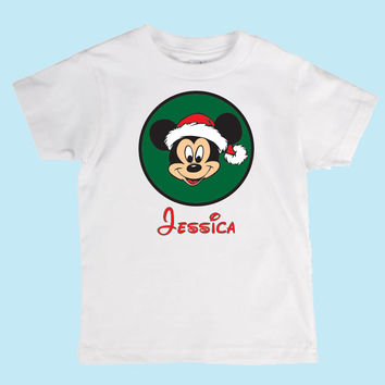 Personalized Christmas Mickey Mouse Shirt  Custom Boys/Girls/Adult