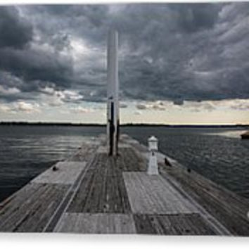 Stormy Weather Above Pier
