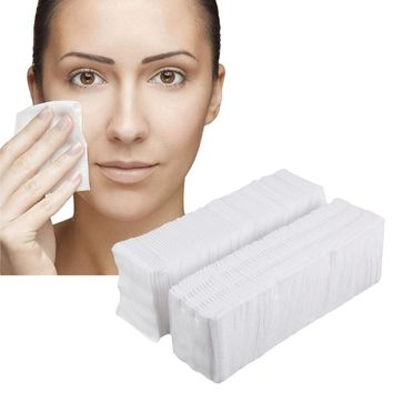 570Pcs Makeup Cotton Pads 500Pcs Thin + 70Pcs Thick Facial Makeup Removing Pads Face Eye Cleansing Cosmetic Cottons Wraps