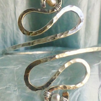 Plus Sized Silver and Grey Arm Band - Egyptian Upper Arm Cuff , Armlet -  comes in copper or brass too