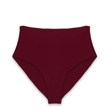 Bound High Waisted Bikini Bottom - Fig
