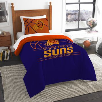 """Suns OFFICIAL National Basketball Association, Bedding, """"Reverse Slam"""" Printed Twin Comforter (64""""x 86"""") & 1 Sham (24""""x 30"""") Set  by The Northwest Company"""