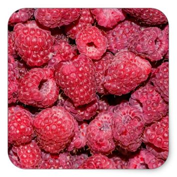 Raspberries Square Sticker
