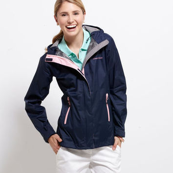 Women's Outerwear: Stow & Go Rain Coat for Women - Vineyard Vines