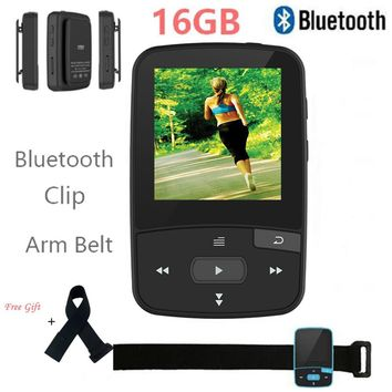 16GB Mini Clip Bluetooth MP3 Player Original CHENFEC-C50 Portable FM Radio Pedometer Multi-funcation HiFi Sport MP3 Music Player