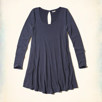 Girls Sueded Knit Swing Dress | Girls Dresses & Rompers | HollisterCo.com