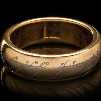 Gold-Plated Tungsten Carbide One Ring