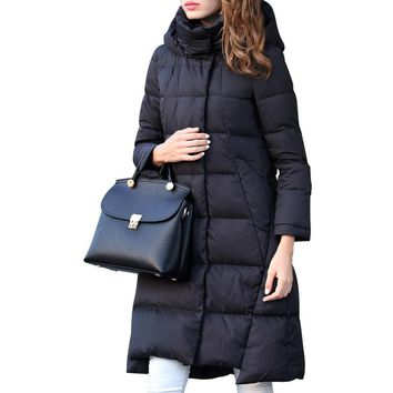 Womens Down Jackets Long Coats Hooded Warm Parkas For Women Feather Jacket And Coats Duck Down Winter Jacket Women Manteau Femme