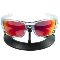 OAKLEY FUEL CELL POLISHED CLEAR FRAME / REVANT MID SUN RUBY RED POLARIZED CUSTOM