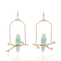 M'O Exclusive: Aventurine Parrot Amazon Earrings | Moda Operandi