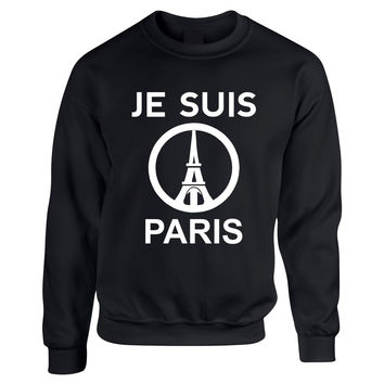 JE SUIS PARIS Eiffel tower women sweatshirts