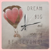 DREAM BIG CLOCK from Zazzle.com