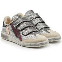Metallic Leather Sneakers with Suede - Isabel Marant | WOMEN | KR STYLEBOP.COM
