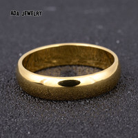 10 5mm Classic Party Wedding Rings for Men Women Fashion High Polish Wedding Band 18K Gold Filled Men Rings Promise Couple Jewelry