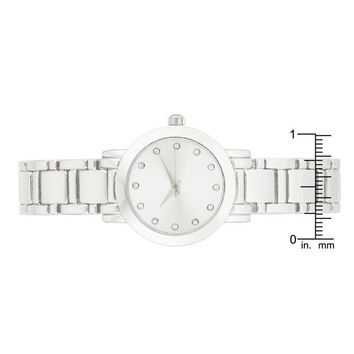 Silvertone Watch With Crystals
