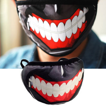 Clearance Tokyo Ghoul 2 Kaneki Ken Mask Masks Pu Leather Cool Mask Blinder Anime Cosplay