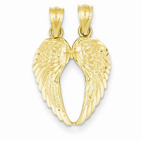 14k Yellow Gold Piece Break Apart Wings Pendant