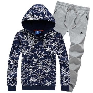 NOV9O2 Adidas Top Sweater Pullover Hoodie Pants Trousers Set Two-Piece Sportswear-9