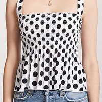 Smocked Polka Dot Top