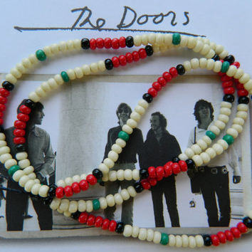 Jim Morrison -Authentic Replica 1991 The Doors Movie Necklace/hippie necklace/hippie jewelry/hippie bead necklace