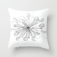 Scoops and Spoons Throw Pillow by Bethany Mallick
