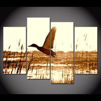 Duck Hunting 4-Piece Wall Art Canvas