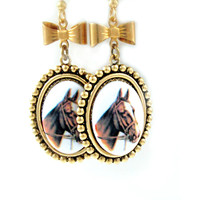 Cowboy Earrings Horse Equestrian Cameo Jewelry