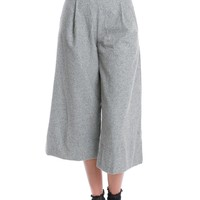 Stepping Off Wide-Leg Culottes short - Gray