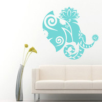 Wall Decals Vinyl Decal Ganesha Decorated Indian Elephant Animals Home Vinyl Decal Sticker Kids Nursery Baby Room Decor kk162