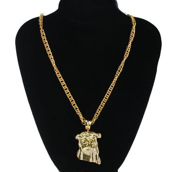 Fashion Jewelry Hip Hop Chain Jesus Avatar Choker Golden Necklace Hot