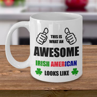 Personalized Color Changing Coffee Mug Gift For Irish American Him Her Men Women Dad Mom Father Mother Boyfriend Girlfriend Customized Mug