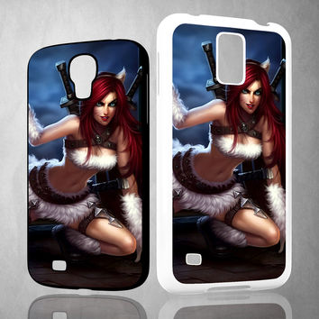 League Of Legends Kitty Kat Katarina Z0611 Samsung Galaxy S3 S4 S5 (Mini) S6 S6 Edge,Note 2 3 4, HTC One S X M7 M8 M9 Cases