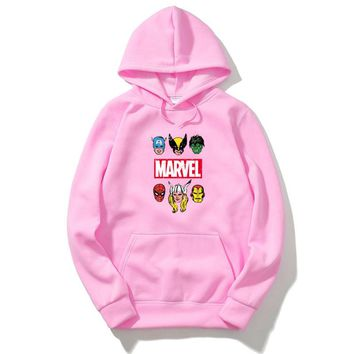 2018 New Brand Marvel men Women Hoodies Sweatshirt Men Skateboards Male Cotton Hoodie Sweat clothing