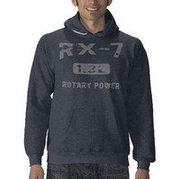 1.3L Mazda RX-7 Hoodies from Zazzle.com