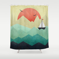 Ocean Adventure Shower Curtain by Digi Treats 2 | Society6