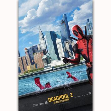 Deadpool Dead pool Taco MQ3381  2 2018 Marvel DC Movie Superhero Hot Art Poster Top Silk Canvas Home Decor Wall Picture Printing AT_70_6