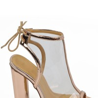 High Society Booties - Rose Gold