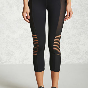 Active Ladder-Cutout Capri Leggings