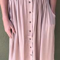 Walking In The Wind Skirt- Taupe