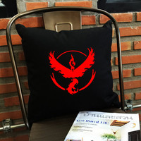 Valor Pillow cover, Team Valor Throw Pillow cover, Pokemon Pillow case, Valor team, Pokémon Décor,  cotton canvas pillow cover