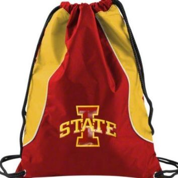 Concept One Iowa State Cyclones Drawstring Back Pack Book Bag School Red Gym#17