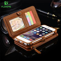 FLOVEME Retro Classical Leather Cases For iPhone 7 7 Plus 6 6s Plus Full Protective PU Wallet Cover For iPhone 7 6 6s 5 5s Case