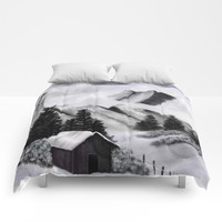 Misty Mountains Comforters by AlishaDawnCreations
