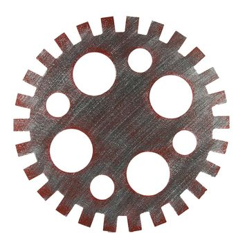 42cm Industrial Wood Wooden Gear Vintage Retro Art Bar Cafe Wall Hanging Decoration