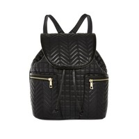 Black quilted backpack - backpacks - bags / purses - women
