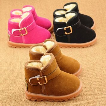 New 2017 fashion Winter boots for girls boys high quality fur cold weather children shoes snow high quality kids sneakers