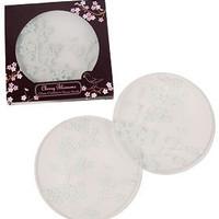 PLASTICLAND - Cherry Blossom Etched Glass Coasters - Set of 4
